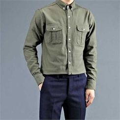 THE COVER - Dual-Pocket Cotton Shirt