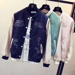 EFO - Printed Baseball Jacket
