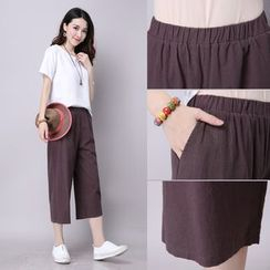 GLIT - Linen Cotton Capri Pants