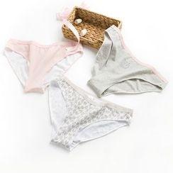 LA SHOP - Set of 3: Printed Panties