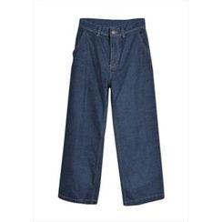 GOROKE - Brushed-Fleece Lined Wide-Leg Jeans