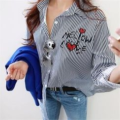 PEPER - Embroidered Striped Shirt