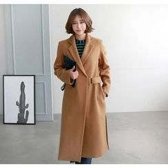 Miamasvin - Buckled Wool Blend Long Coat