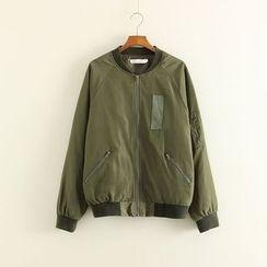 Mushi - Plain Bomber Jacket