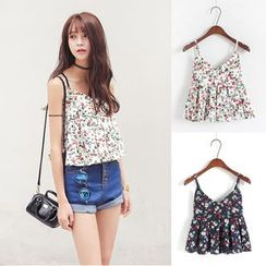HotBlock - Cropped Strappy Floral Top