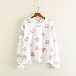 Mushi - Star Print Long Sleeve T-Shirt