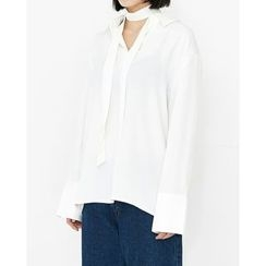 Someday, if - Collared Half-Placket Top with Sash