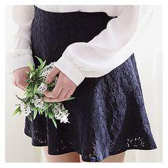 Sechuna - Lace Mini A-Line Skirt