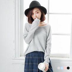 OrangeBear - Oversize Crochet-Knit Sweater