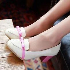 Tomma - 蝴蝶結有跟樂福鞋
