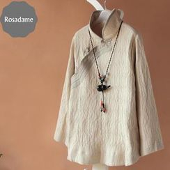 Rosadame - Long-Sleeve Chinese Frog Button Top
