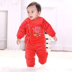 Snow Dragon - 童裝套裝: 填料上衣 + 長褲