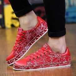 Main Road - Printed Lace Up Sneakers