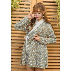 Dalkong - Patterned Mini Hanbok Dress