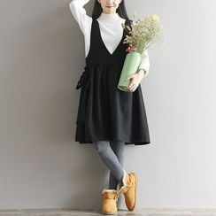Fancy Show - Bow-Accent Jumper Dress