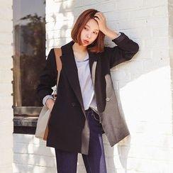 Seoul Fashion - Double-Breasted Blazer