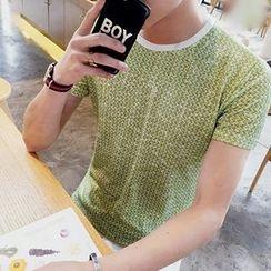 Fisen - Melange Short-Sleeve T-shirt