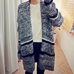 Bay Go Mall - Melange Long Knit Jacket