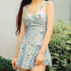 Sweet Splash - Floral Print Swim Dress