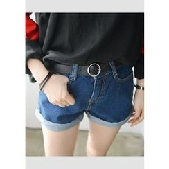 DEEPNY - Roll-Up Hem Denim Shorts