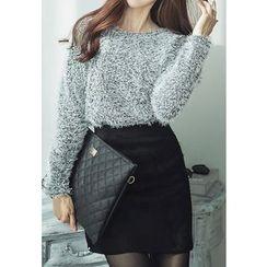 REDOPIN - Furry Knit Sweater