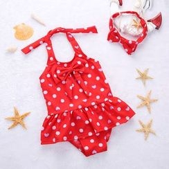 Hokit - Kids Bow-Accent Swimsuit