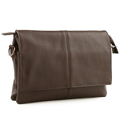 Moyyi - Faux Leather Messenger Bag