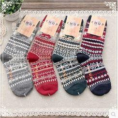 Forest Girl - Nordic Print Socks