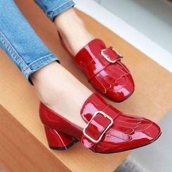 Cinnabelle - Block Heel Buckled Sandals