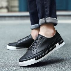 Hipsteria - Faux Leather Sneakers