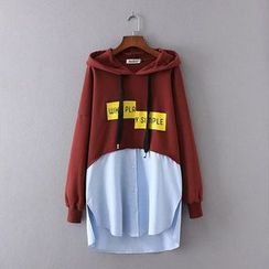 Ainvyi - Mock Two Piece Hoodie