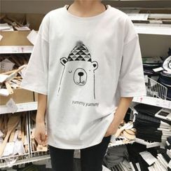 CHIH - Bobble Print Short-Sleeve T-Shirt