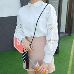 MATO - Lace Panel Shirt