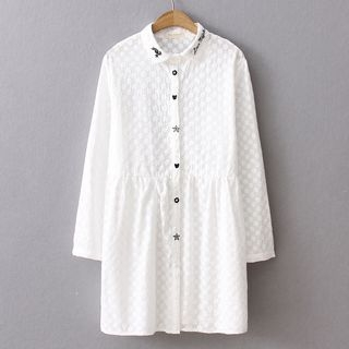 HANIA - Long-Sleeve Long Shirt
