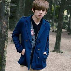 SeventyAge - Double-Breasted Woolen Jacket