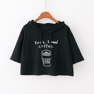Sunny Day - Short-Sleeve Cropped Hooded T-Shirt