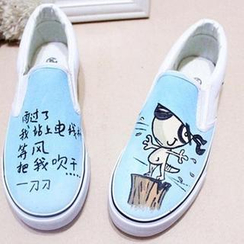 HVBAO - Painted Canvas Slip-Ons