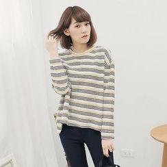 Tokyo Fashion - Striped Long-Sleeve T-Shirt