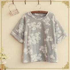 Fairyland - Floral Print Short-Sleeve T-Shirt