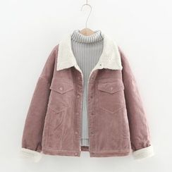 MODUO - Fleece-Lined Buttoned Jacket