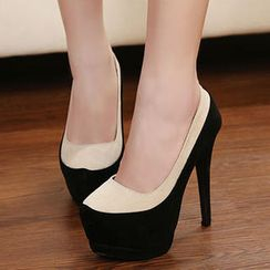 Mancienne - Two-Tone Platform Stilettoes