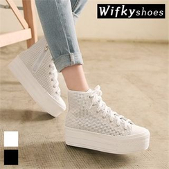 Wifky - Mesh Platform High-Top Sneakers