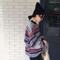 Cattie - Striped Oversized Pullover