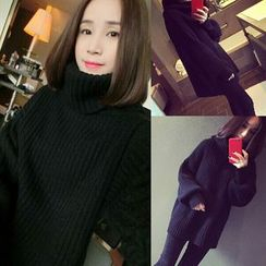 Zzang Girls - Turtleneck Chunky Sweater