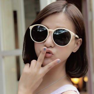 Cuteberry - Oversized Round Sunglasses