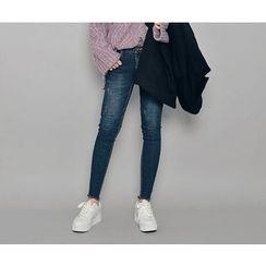 HOTPING - Frey-Hem Skinny Jeans