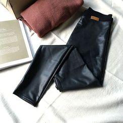 YENSI - Faux Leather Leggings