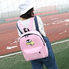 Seok - Car Print Nylon Backpack