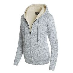 DANGOON - Coral-Fleece Lined Mélange Knit Hoodie