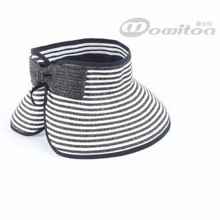 Momiton - Bow-Accent Striped Visor